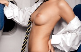 Sexy Air Hostess Sucked My Prick