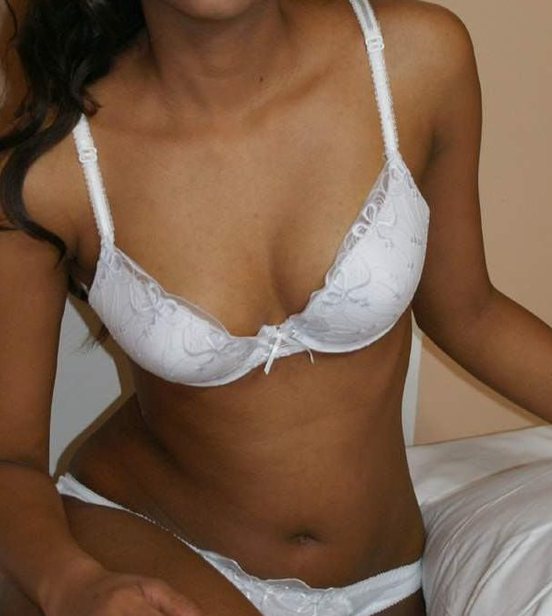 Sexy boobs in white bra - Fucking in moonlight