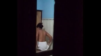 Indian aunt bathing spied