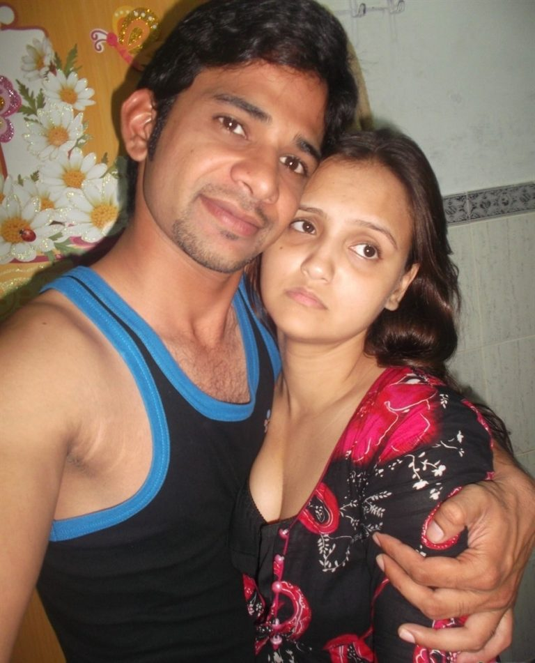 Desi lover recording as his girlfriend hugs him tight