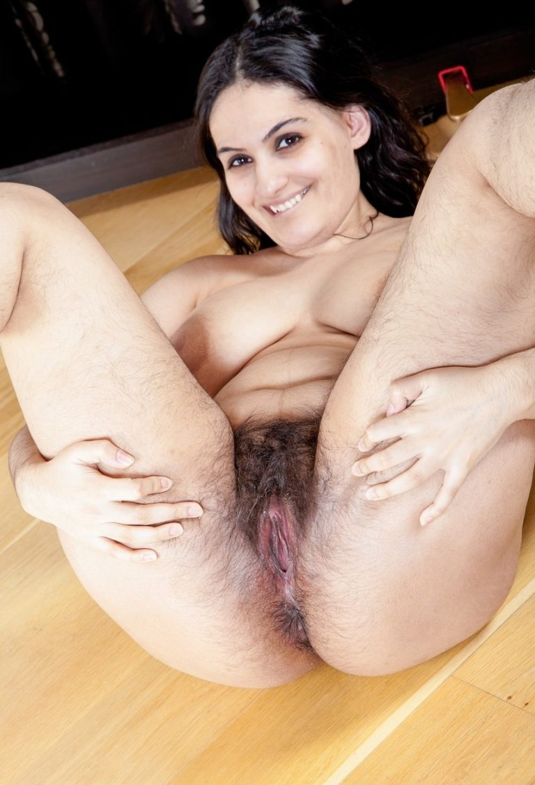 Beautiful Indian girl shows her hairy pussy and asshole