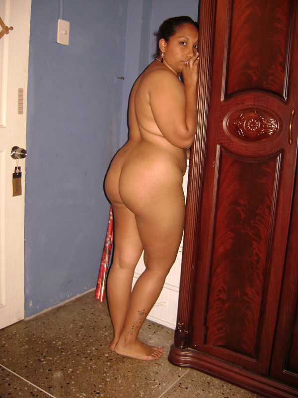 Big ass lady standing naked